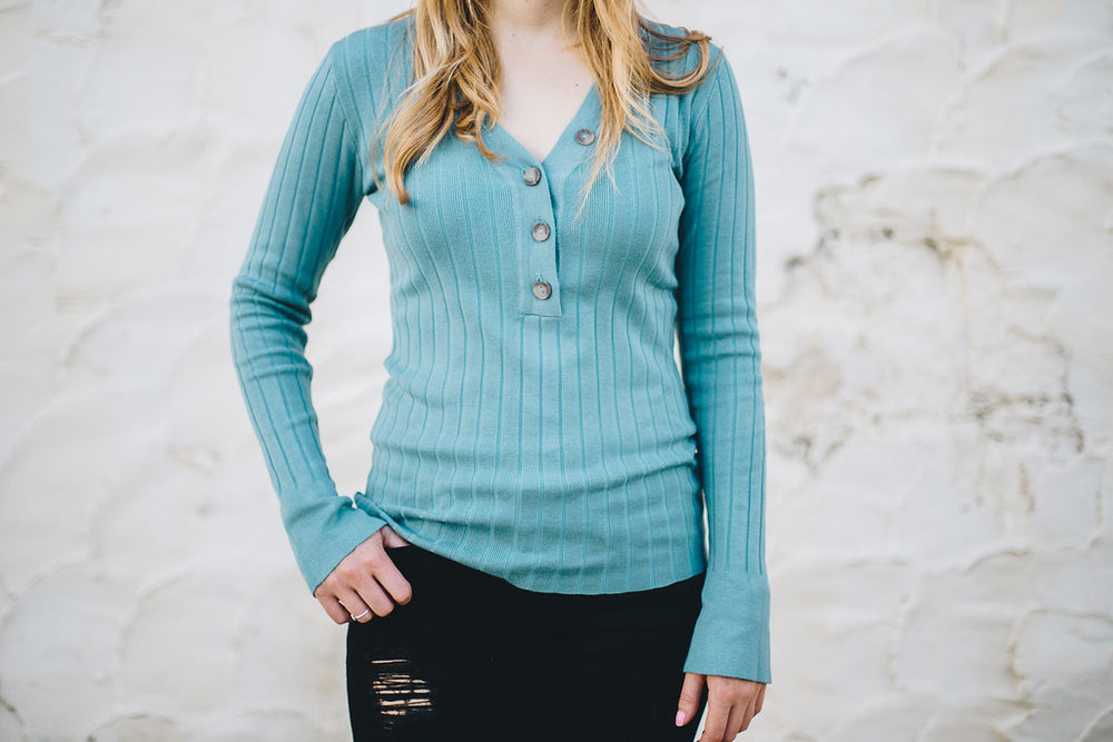 Ribbed Love Sweater
