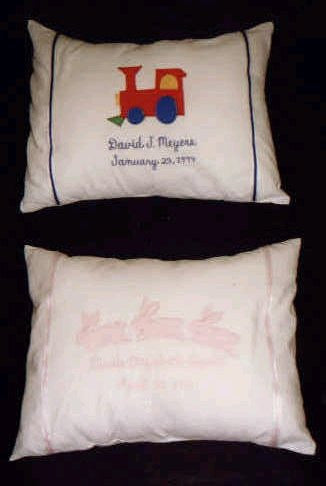Baby Pillow With Full Name and Date of Birth Personalization