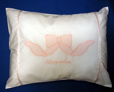 Baby Pillow with First Name Personalization