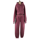 """C.L.U.B"" MAUVE SWEATSUIT TOP"