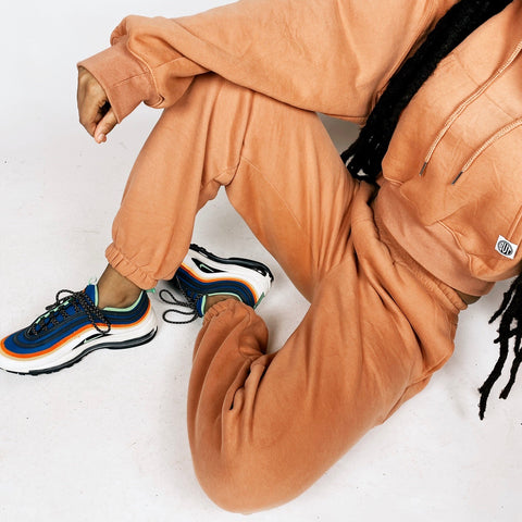 """C.L.U.B"" COPPER SWEATSUIT BOTTOMS"