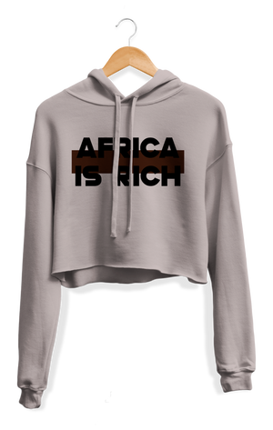 Open image in slideshow, Africa Is Rich Cropped Hoodie