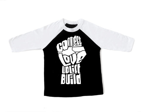 CLUB Fist Raglan Toddler Tee