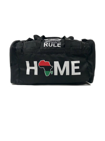Africa Home Black Duffel Bag
