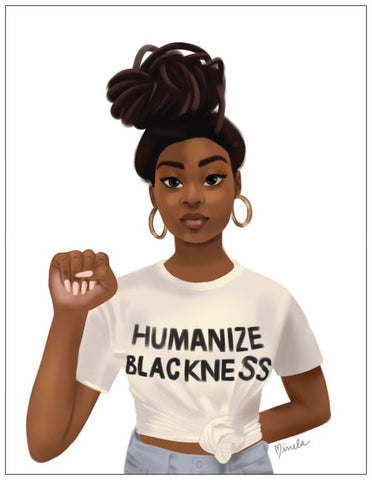 Humanize Blackness Greeting Card