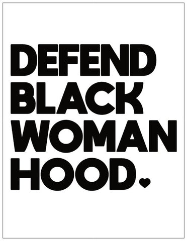 Defend Black Womanhood Greeting Card