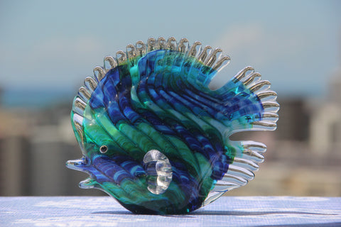 Ocean Fish in Blue and Green