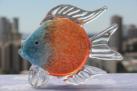 Ocean Fish in Orange and Blue