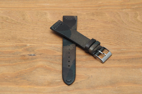 Camouflage Italian Leather Watch Strap