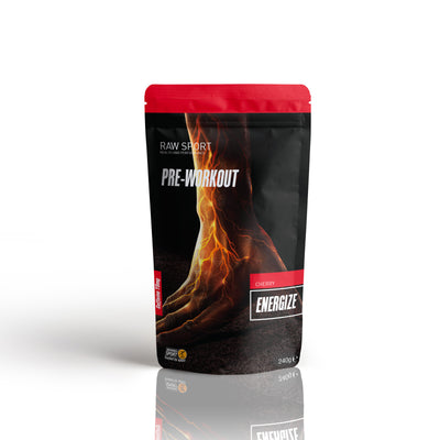 Raw sport energize pre work out Cherry gurana flavour 240g - Revolution Foods (pioneers in plant nutrition)