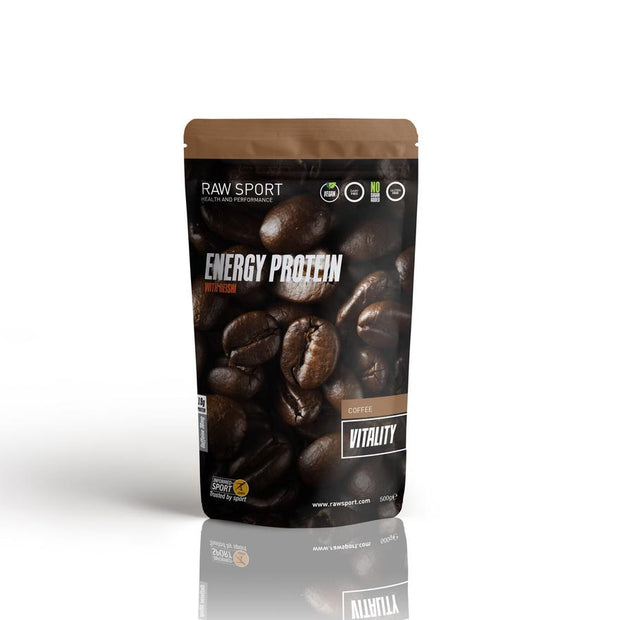 Raw sport energy protein vitality coffee 500g Dairy Free, Soy Free, Non GMO Vegan - Revolution Foods (pioneers in plant nutrition)