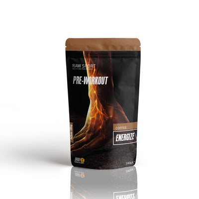 Raw sport energize pre work out coffee flavour 240g - Revolution Foods (pioneers in plant nutrition)