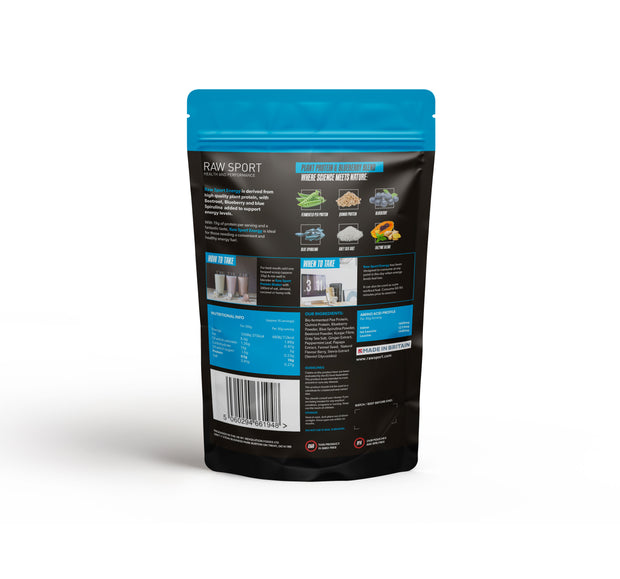 Raw sport energy protein vitality blueberry 500g - Revolution Foods (pioneers in plant nutrition)