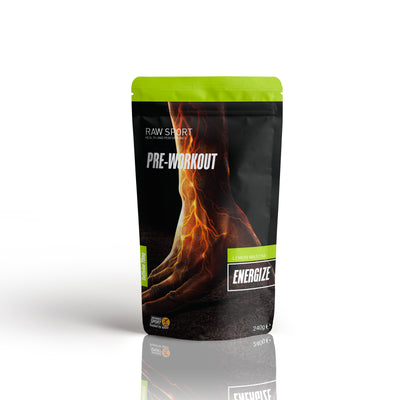 Raw sport energize pre work out Lemon matcha flavour 240g - Revolution Foods (pioneers in plant nutrition)