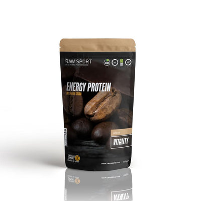 Raw sport energy protein vitality mocha 500g Dairy Free, Soy Free, Non GMO Vegan - Revolution Foods (pioneers in plant nutrition)
