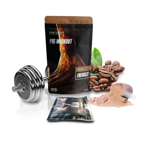 Raw Sport Coffee Energize Pre Workout Sample. One Serving Size