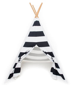 Children's Play Teepee - Black & White Fantasy Street