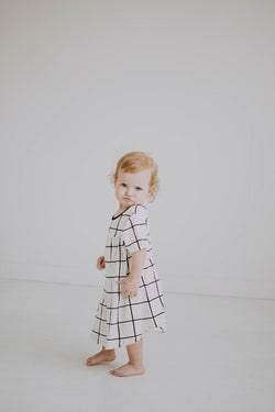 Windowpane Swing Dress