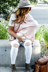 Carseat/Nursing Cover - Blush