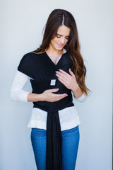 Avenue Cotton Blend Baby Wrap | Black