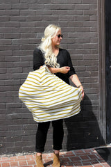 Carseat/Nursing Cover - Gold Stripes