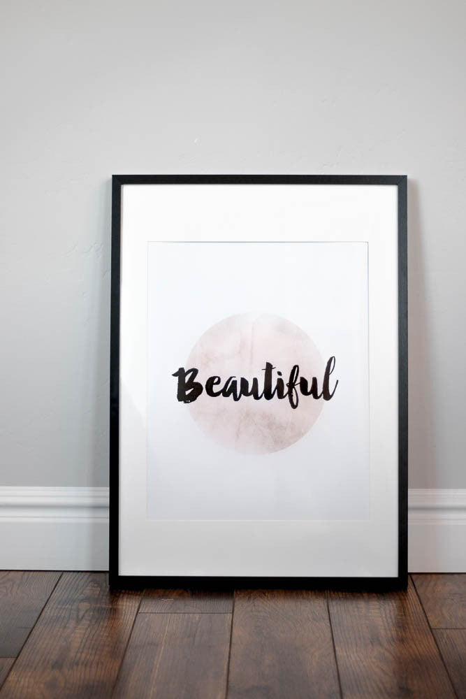 Nursery Wall Print - Beautiful