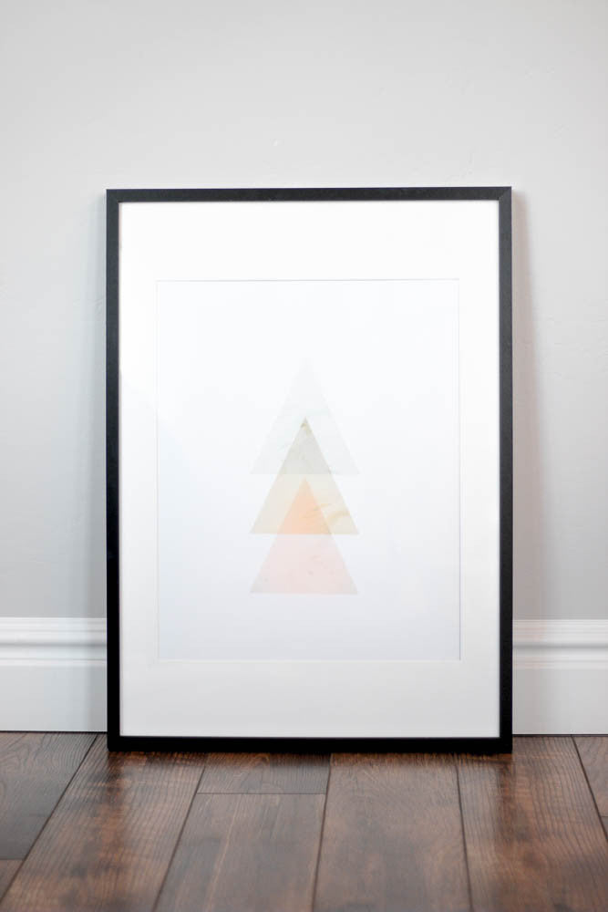 Nursery Wall Print - Geometric Rise
