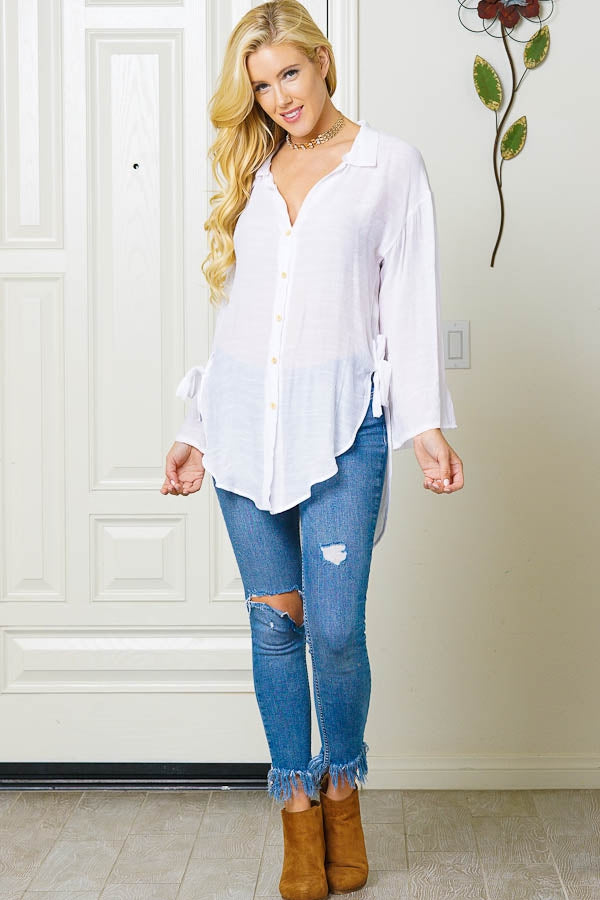 Business Casual White Shirt