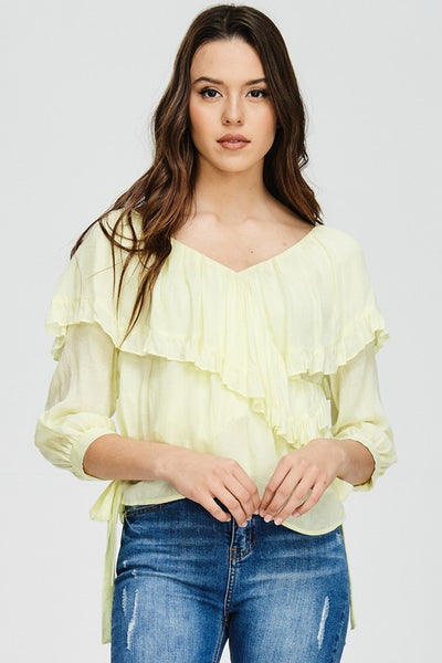 Elegant Afternoons Top - Yellow