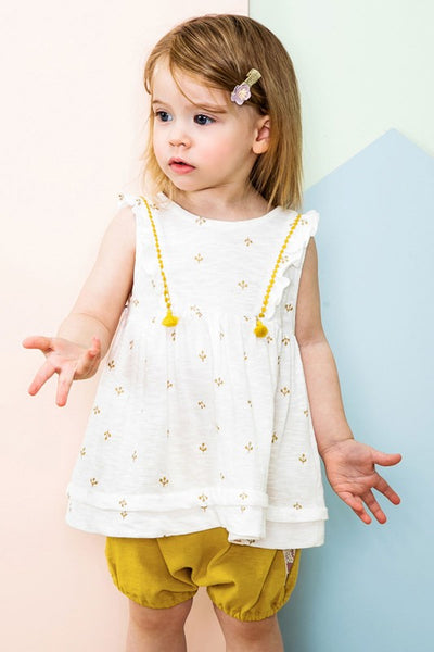 Girls Two Piece Tassle Outfit