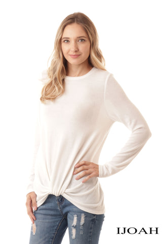 TWIST & TURN CREAM TOP