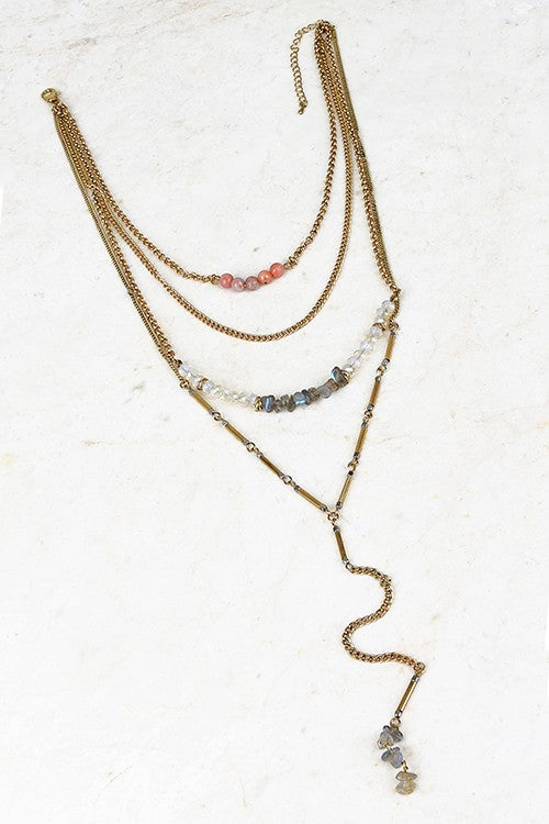 Layers Necklace - Blue