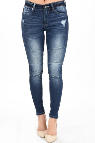Kan Can Distressed Denim Skinny Jean