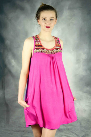 Girls Fuchsia Dress - Sleeveless