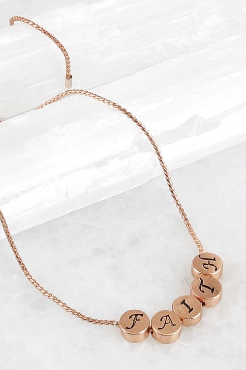 Faith Rose Gold Necklace