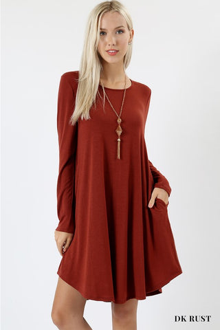 Dark Rust Pocket Tunic
