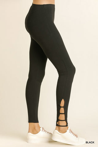 Black Criss Cross Leggings