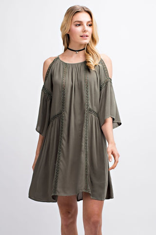 Summer Belle Dress - Olive