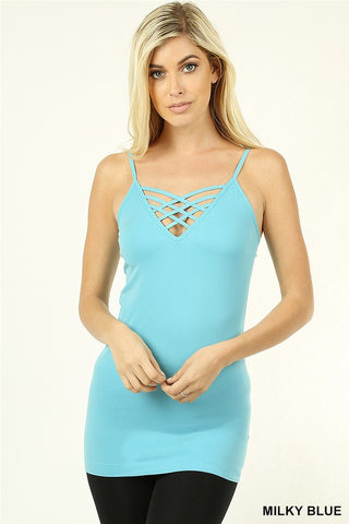 Ocean Blue Criss Cross Tank