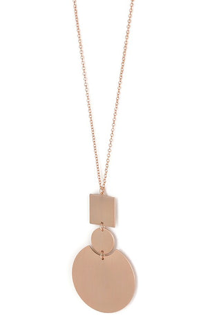 Geo Rose Pendant Necklace