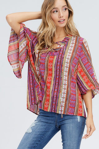 Fun and Funky Print Top