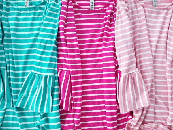 Spring Bells Girls Top - Fucshia