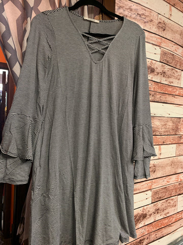 Strappy Stripes Tunic