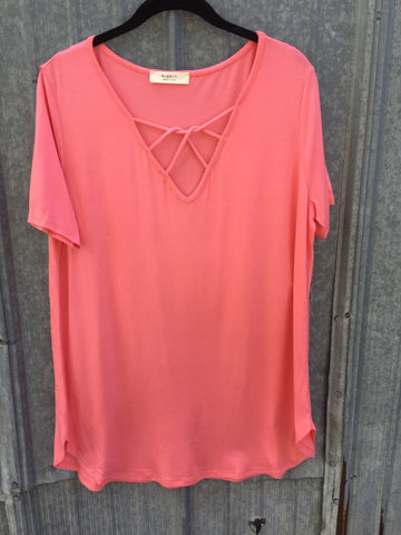 Coral Short Sleeve Top - Curvy