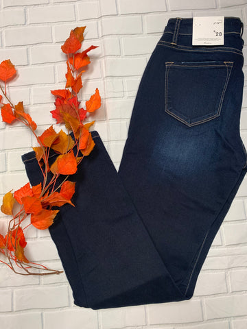 Dark Denim Kan Can Skinny Jeans