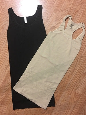 One Size Niki Biki Ribbed Racer Back Tank Dress