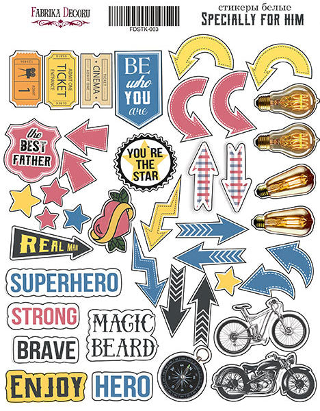 "KIT OF STICKERS #003, ""SPECIALLY FOR HIM"""