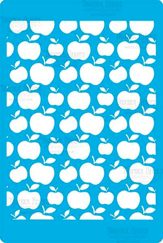סטנסיל-APPLE BACKGROUND #235
