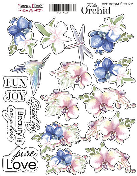 "KIT OF STICKERS #005, ""TENDER ORCHID"""