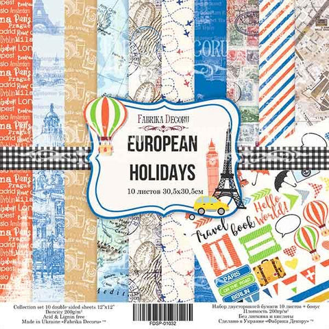 EUROPEAN HOLIDAYS -מארז דפים